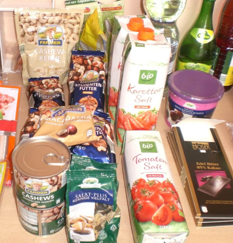 KW 29 - Einkauf der Woche - Paleo-Diät Einkaufsliste bei ALDI - Nüsse - Samen - Snacks - Getränke